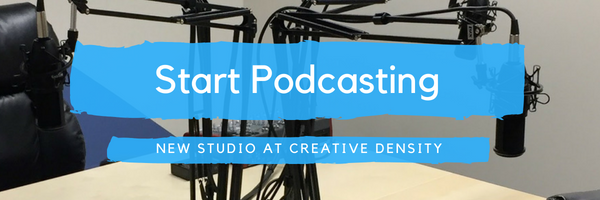 Creative Density adds a Podcasting Studio!
