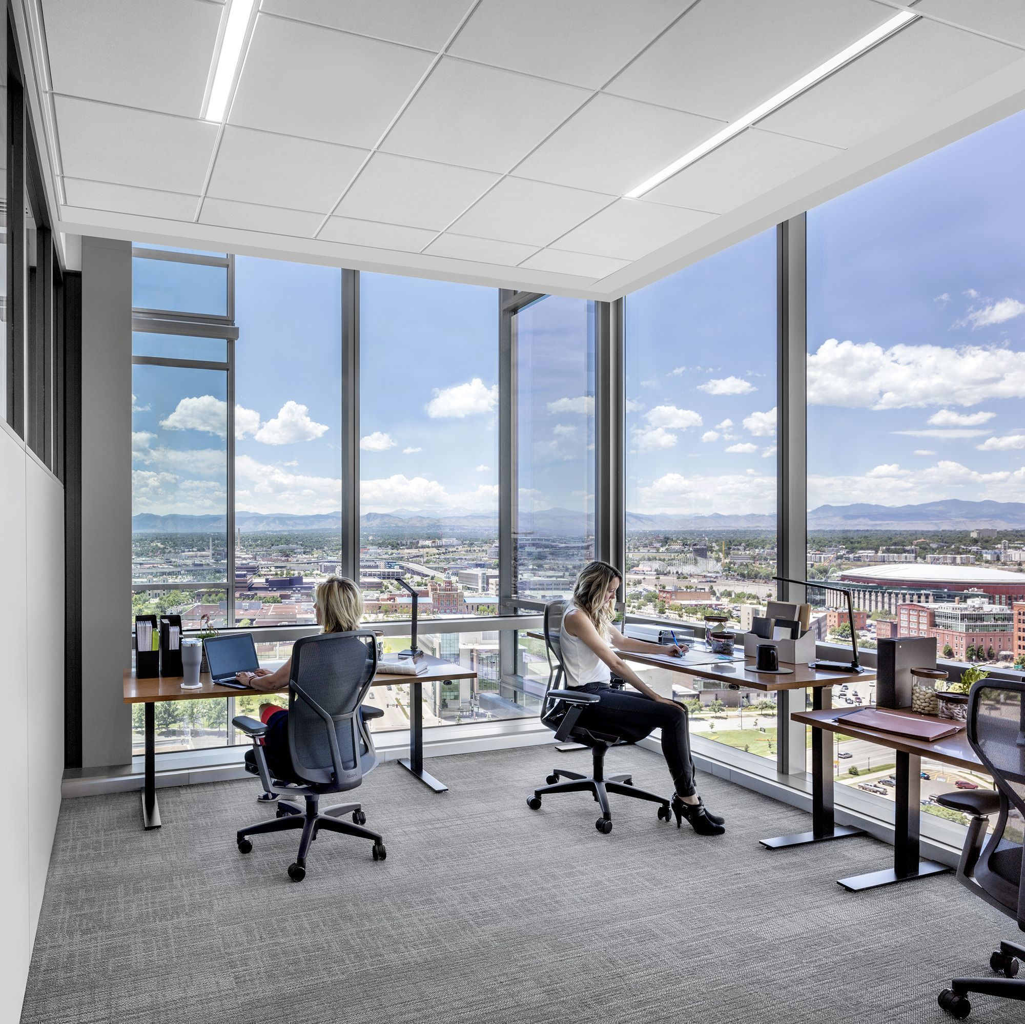 Firmspace with two women working in downtown Denver